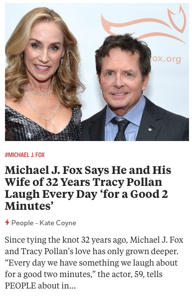 https://people.com/tv/michael-j-fox-wife-tracy-pollan-laugh-every-day-for-a-good-2-minutes/