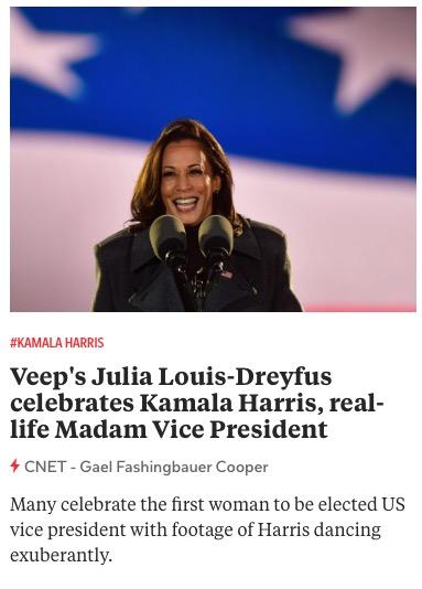 https://www.cnet.com/news/veep-star-julia-louis-dreyfus-celebrates-kamala-harris-as-real-life-madam-vice-president/