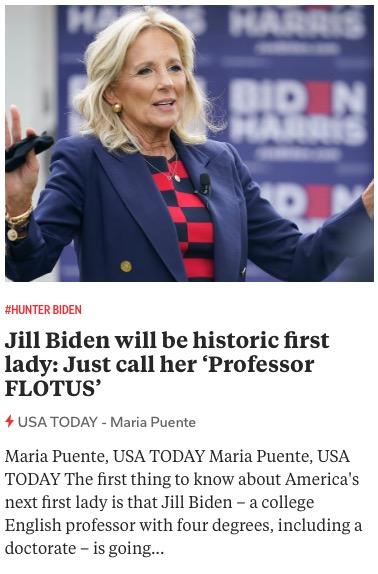 https://www.usatoday.com/in-depth/entertainment/celebrities/2020/11/07/jill-biden-historic-first-lady-call-her-professor-flotus/6042142002/